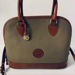 Dooney & Bourke Zip Top Dome Satchel Shoulder Bag